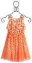 Lipstik Girls Tween Orange Chiffon Heart Dress
