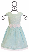 Little Angels Girls Special Occasion Dress in Blue (6 & 6X)