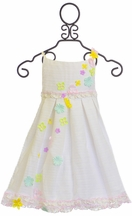 Little Angels White Spring Dress for Girls