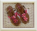 Little Girls Sandals in Bronze and Pink by Josmo