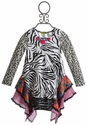 Little Mass Animal Print Back to School Dress for Girls