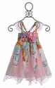 Little Mass Aqua Fluer Girls Dress