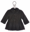 Little Mass Chiao Bella Black Fur Coat