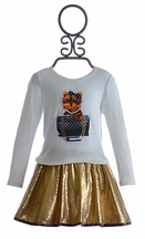 Little Mass Couture Skirt Outfit for Girls Puppy Fun (2T & 3T)