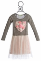 Little Mass Cream Tutu Girls Dress with Heart