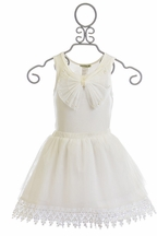 Little Mass Designer Tutu Skirt Set Off White (6X,7,8,10)