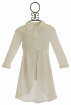 Little Mass Fancy Ivory Coat for Girls