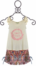 Little Mass Flower Power Top and Short