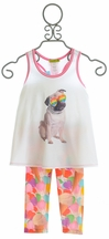 Little Mass Girls Capri Set with Pug Top (Size 4T)