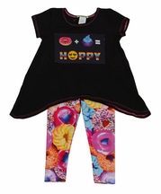 Little Mass Girls Donut Top and Legging Set