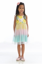 Little Mass Girls Dress with Daisies