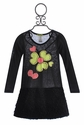 Little Mass Girls Dress with Neon Flowers