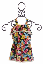Little Mass Girls Floral Romper (4 & 10)