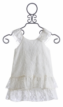 Little Mass Girls Ivory Lace Dress (4,5,6,6X)