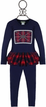 Little Mass Girls London Plaid Tunic Set