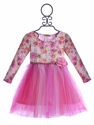 Little Mass Girls Party Dress Rosy Tulle (Size 2T)