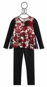 Little Mass Girls Red Rose Top and Legging