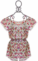 Little Mass Girls Romper with Flowers