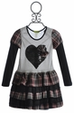 Little Mass Girls Ruffle Dress Hard Rock Plaid