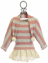Little Mass Girls Sweater Tunic Striped