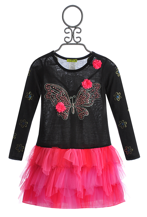 Little Mass Girls Tutu Dress In Butterfly Twist
