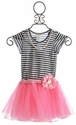 Little Mass Happily Ever After Navy and Pink Tutu Dress