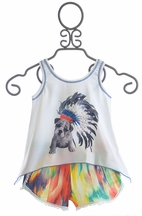 Little Mass Indian Summer Top and Shorts with Dog (2T,3T,5,14)