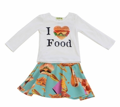 Little Mass Kids Meal Skirt Set for Girls