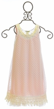 Little Mass Lace Dress in Off White and Peach