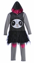 Little Mass Little Girls Dress and Leggings Set Panda Fun