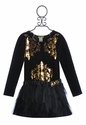 Little Mass Little Girls Tutu Dress in Velvet