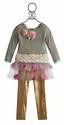 Little Mass Little Girls Tutu with Sweater and Leggings