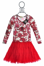 Little Mass Mary Poppin Red Girls Dress (12Mos & 2T)