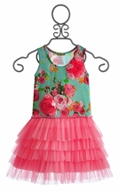 Little Mass Mint Rose Girls Tutu Dress (Size 12 Mos)