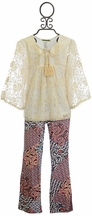 Little Mass Must Be Love Tunic Set for Girls