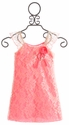 Little Mass Neon Pink Girls Lace Dress