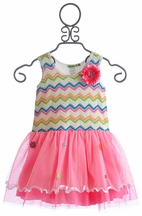 Little Mass Sunshine Chevron Girls Tutu Dress (Size 12Mos)