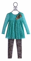 Little Mass Tunic Outfit for Little Girls Leopard Love (3T, 5 & 6)