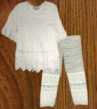Little Mass Tunic with Crochet Leggings for Girls