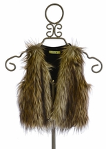 Little Mass Tween Faux Fur Vest (Size 7)