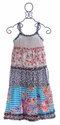 Little Mass Tween Girls Maxi Dress Multi Print