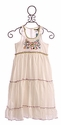 Little Mass Tween Summer Dress White and Floral
