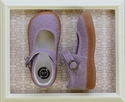 Livie and Luca Clove Lavender Girls Shoes in Embossed Leather