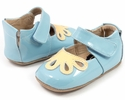 Livie and Luca Daisy Blue Petal Shoes for Babies