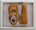 Livie and Luca Girls Embossed Leather Shoes in Yellow (4, 5, 7, 8)