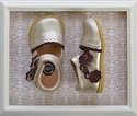 Livie and Luca Girls Leather Shoes in Gold Metallic