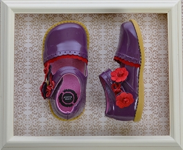 Livie and Luca Girls Patent Leather Shoes in Grape (Size 4i)