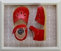 Livie and Luca Girls Red Petal Shoes in Suede