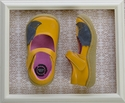 Livie and Luca Girls Yellow Leather Shoes with Hedgehog