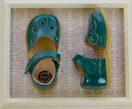 Livie and Luca Green Petal Shoes in Leather